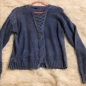 Adorable denim blue trendy sweater